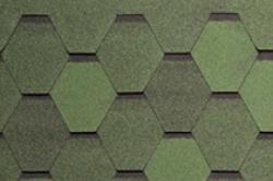 Мягкая черепица TEGOLA, Нордик , зеленый с отливом