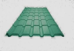 Металлочерепица Каскад Pur 50 Дымчато-зеленый металлик