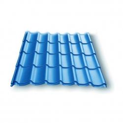 Металлочерепица Супермонтеррей Colorcoat Prisma Голубой металлик